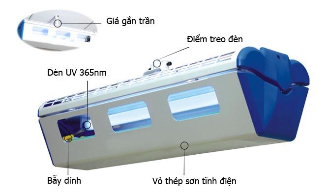 Thiết kế Đèn bắt muỗi côn trùng bẫy dính GB-600